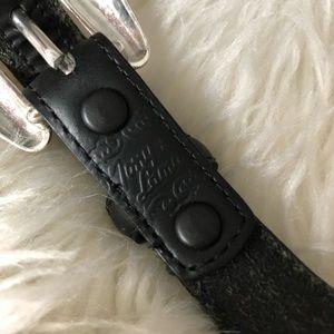 Tony Lama Accessories - Vintage Tony Lama Black Leather Silver Heart Belt
